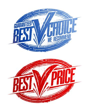 Best choice and best price rubber stamps imprints vector set