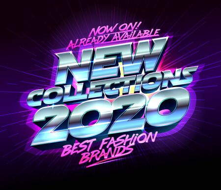 New collections 2020year available poster template