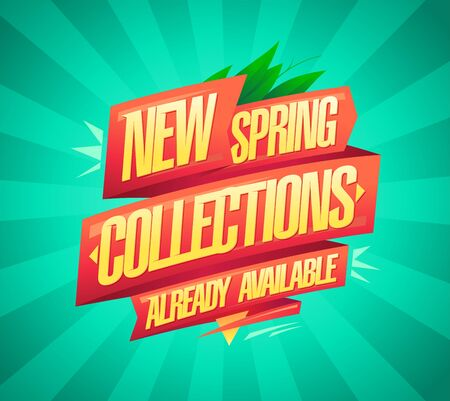 New spring collections already available, vector banner design concept