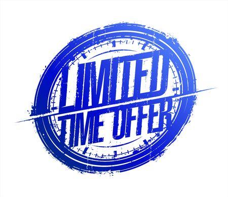 Limited time offer rubber stamp imprint
