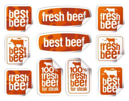 Beef stickers set - best beef, fresh beef, etc.