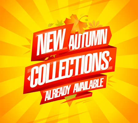 New autumn collections already available vector banner mock up