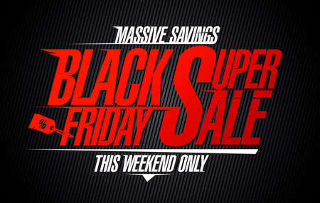 Black friday super sale, massive savings - sale banner template