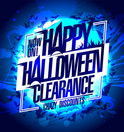 Happy Halloween clearance now on, crazy discounts -  banner mock up
