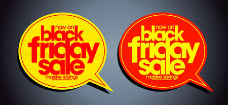 Black friday sale speech bubbles discount symbols vector set