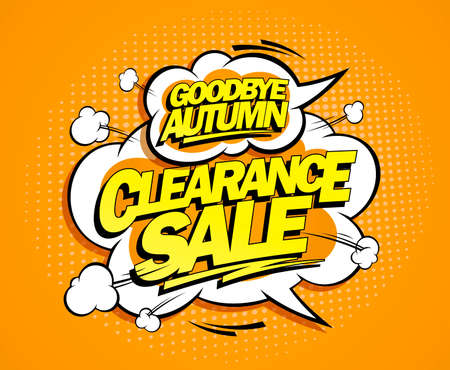 Good bye autumn, autumn clearance sale web banner vector design