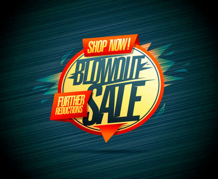 Blowout sale, shop now, further reductions - vector web banner design template