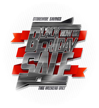 Black friday sale vector banner, storewide savings this weekend only