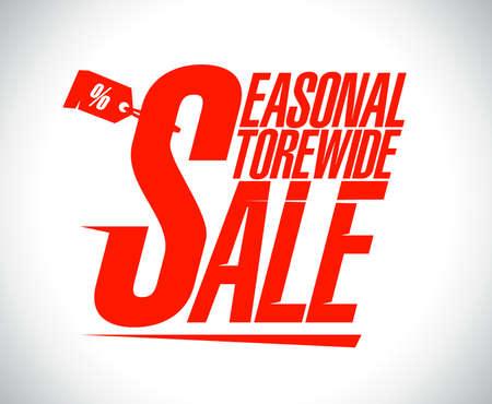 Seasonal storewide sale design template. Vecteurs