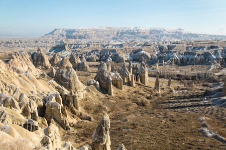 Famous valley of love. National Park in Cappadocia. Goreme Stock Photo