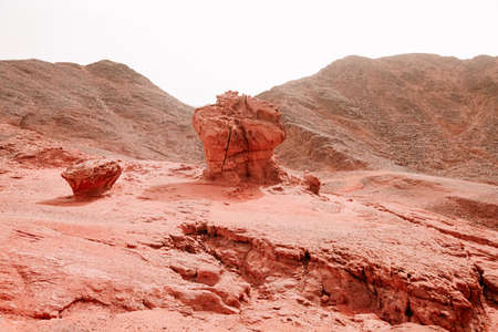 The red sand rocks in Timna park, Israel