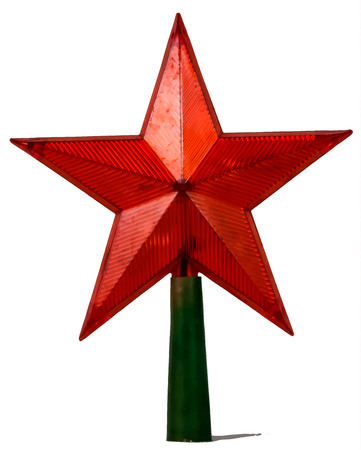 standalone: red star on a stand-alone layer Illustration