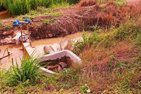 irrigation system for paddy field