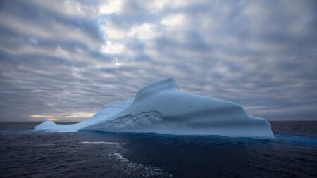 Very large iceberg in Antarctic waters photo