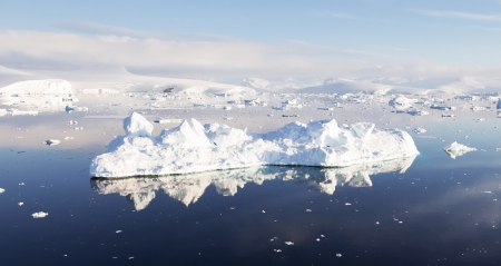 Antarctic Landscape with large iceberg photo
