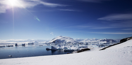 Antarctic Landscape with Gorgeous Sun photo