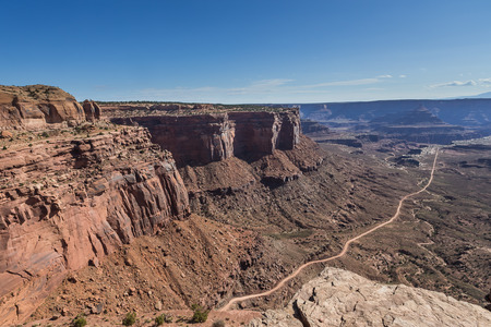 The Neck Viewpoint of White Rim Road in Canyonlands National Park