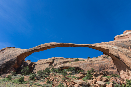 Landscape Arch in Arches National Park near Moab, Utah Stock fotó