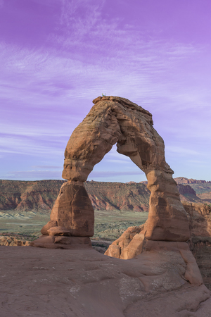 moab: Delicate Arch in Arches National Park near Moab, Utah