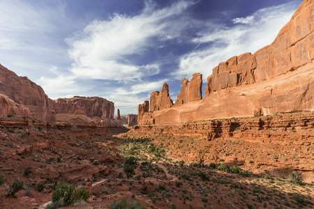 Park Avenue Viewpoint in Arches National Park Stock fotó