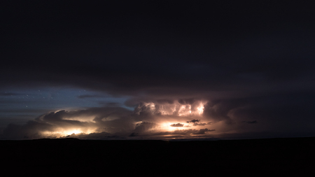Huge Lightning Storm in Dead Horse Point State Park near Moab, Utah Stock fotó - 49967993
