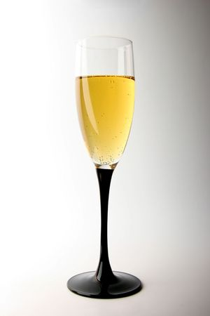 wineglass full of champagne on white background Stock Photo - 2791467