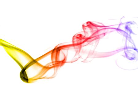 notional: colorful smoke isolated on the white background