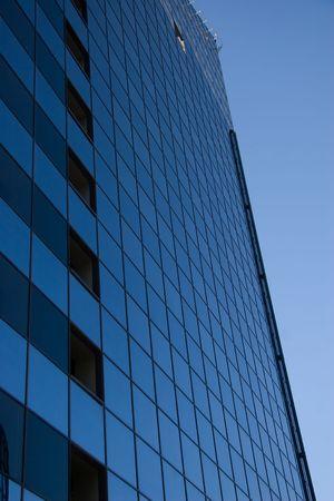 tall dark business center in tallinn city photo