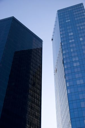 two tall business centers in tallinn city photo