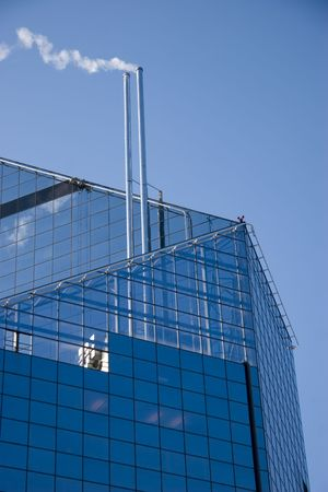 a part of skyscraper in business city Stock Photo - 2791491
