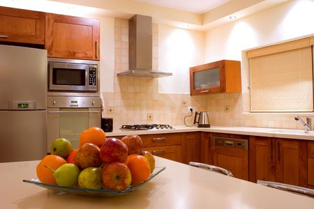 kitchen furniture set feng shu interior design Stock Photo - 900206