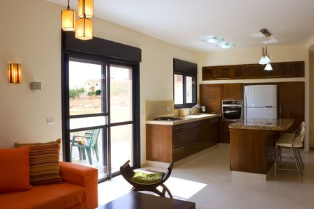 living room & kitchen Stock Photo - 900220