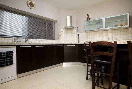 The interior of modern designed kitchen  photo