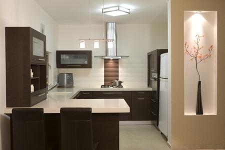 Cocina sala de diseño moderno y de lujo de cocina  Foto de archivo - 1692658