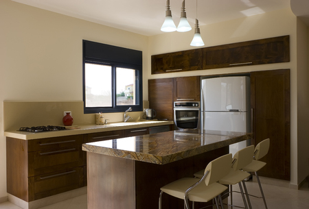 kitchen counter top: modern kitchen