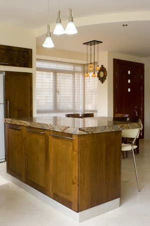 kitchen remodelling: the modern diner room Stock Photo