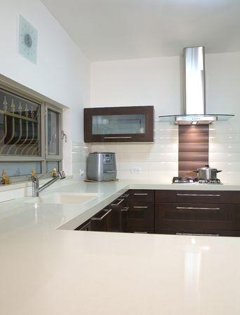 kitchen room modern designluxury kitchen Stock Photo