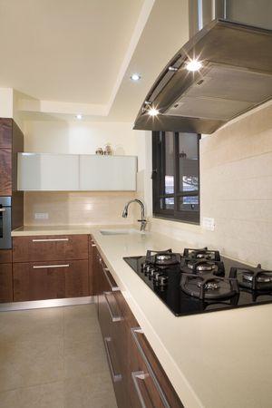 cuisine de luxe: cuisine moderne, salle de conception  de cuisine de luxe  Banque d'images