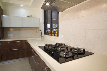 The new kitchen room, modern design  luxury kitchen