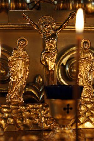 Orthodox Church,the gold crucifixion
