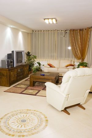 Living room suite of soft furniture, modern interior, feng-shui style Stock Photo - 2947519