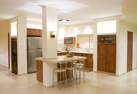 The modern kitchen room, luxury design Stock Photo