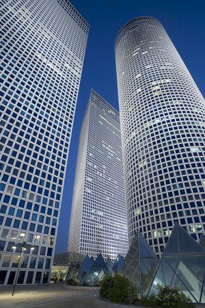 azrieli center: Modern office building Stock Photo
