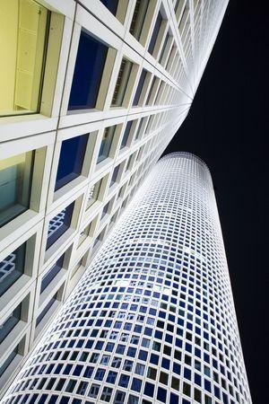 azrieli center: The night city, Azrieli tower, Tel-Aviv, Israel