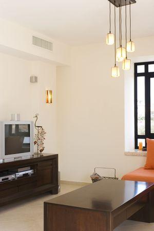 modern furniture set living room in cottage / The living room furniture set