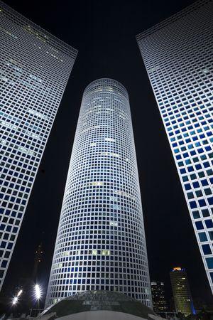 azrieli center: The night city, business centre, Modern office building