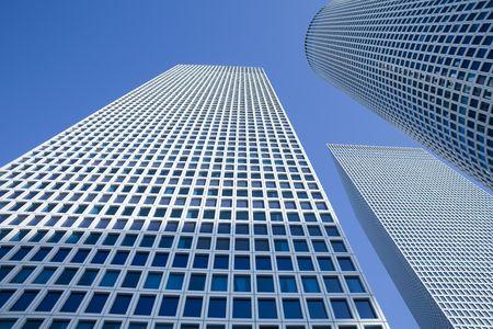 azrieli tower: Skyscrapers under the blue sky