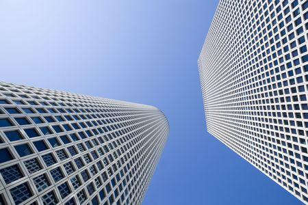 azrieli center: Skyscrapers under the blue sky