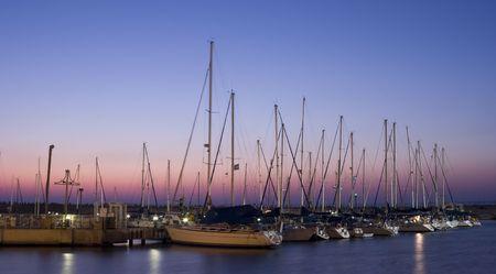 Small sailboats in Ashdod harbor, Israel