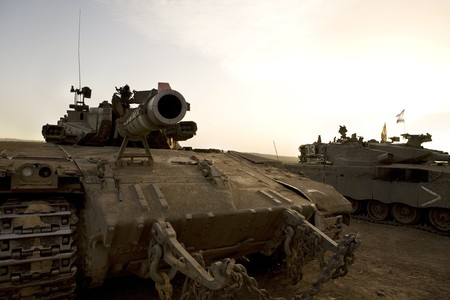 Israeli army armored corp, tank Merkava Stock Photo - 4452731